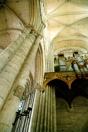In the cathedral of Amiens