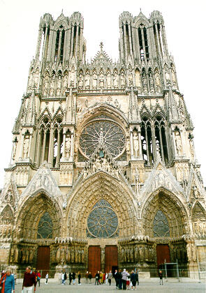The cathedral of Reims